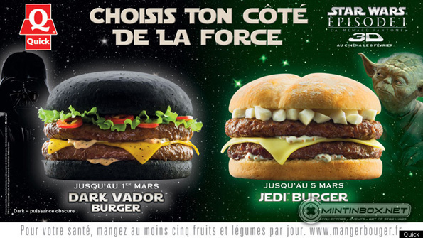DARK VADOR BURGER Star Wars Burger Only In France