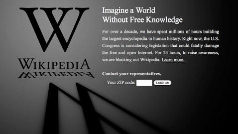 blackout Major Sites Go Dark Against Censorship Bill