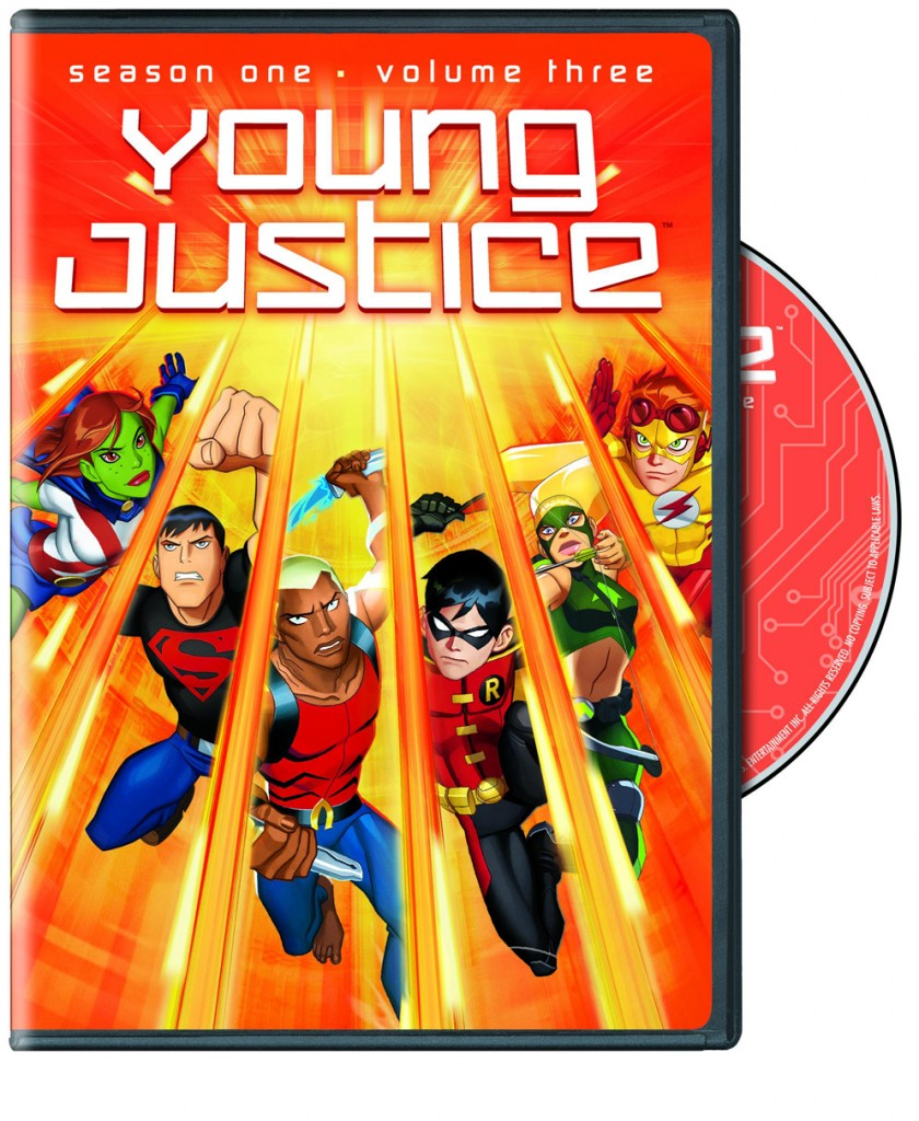 YJ vol 3 cover 840x1024 Young Justice Season 1 Volume 3 DVD Review!