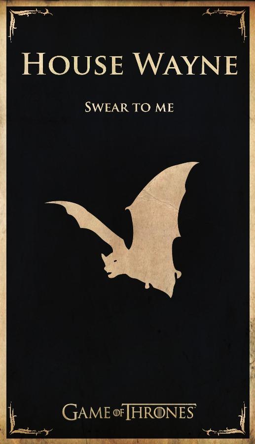ooHka Superhero Game Of Thrones Banners