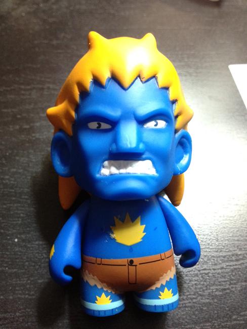 street fighter blanka blue Kidrobot Street Fighter Mini Figures