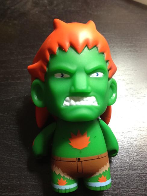 street fighter blanka green Kidrobot Street Fighter Mini Figures