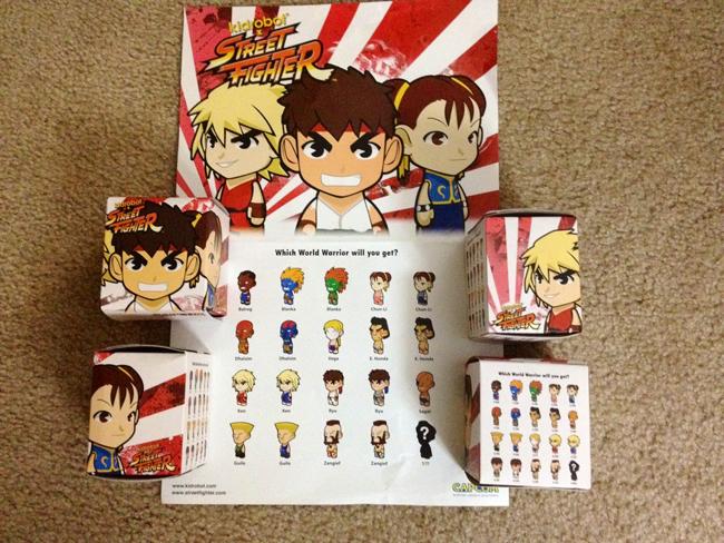 street fighter packaging Kidrobot Street Fighter Mini Figures