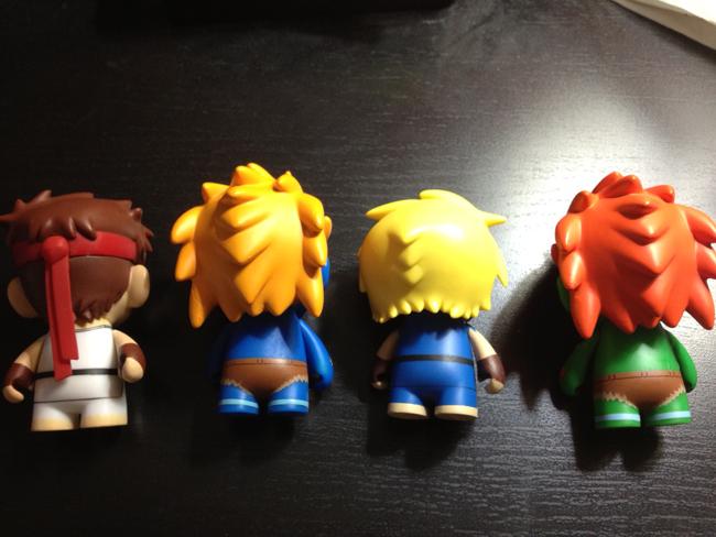street fighter toys backshot Kidrobot Street Fighter Mini Figures