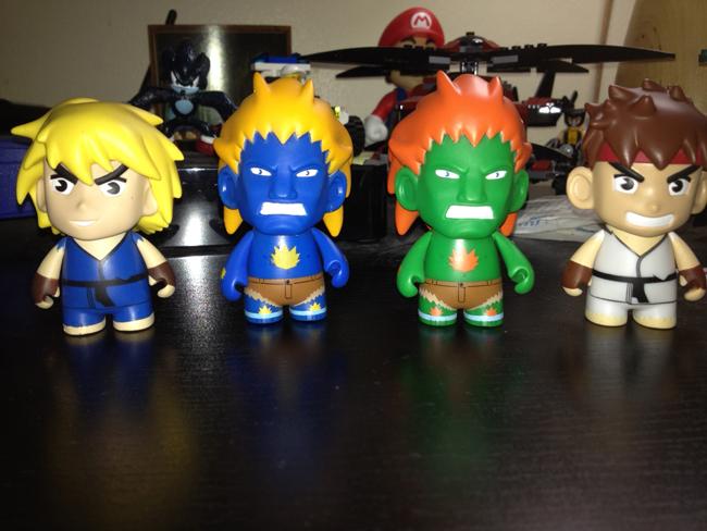 street fighter toys front Kidrobot Street Fighter Mini Figures