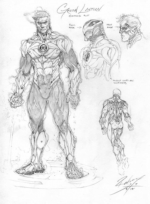 jlgreenlantern1 Justice League Concept Art In Next Batman: Arkham Game?