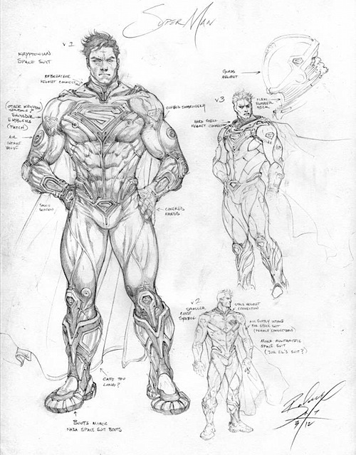 jlsuperman1 Justice League Concept Art In Next Batman: Arkham Game?