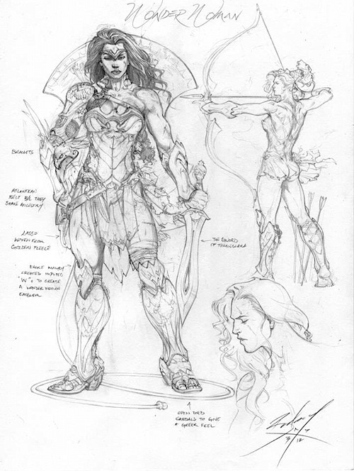 jlwonaderwoman1 Justice League Concept Art In Next Batman: Arkham Game?