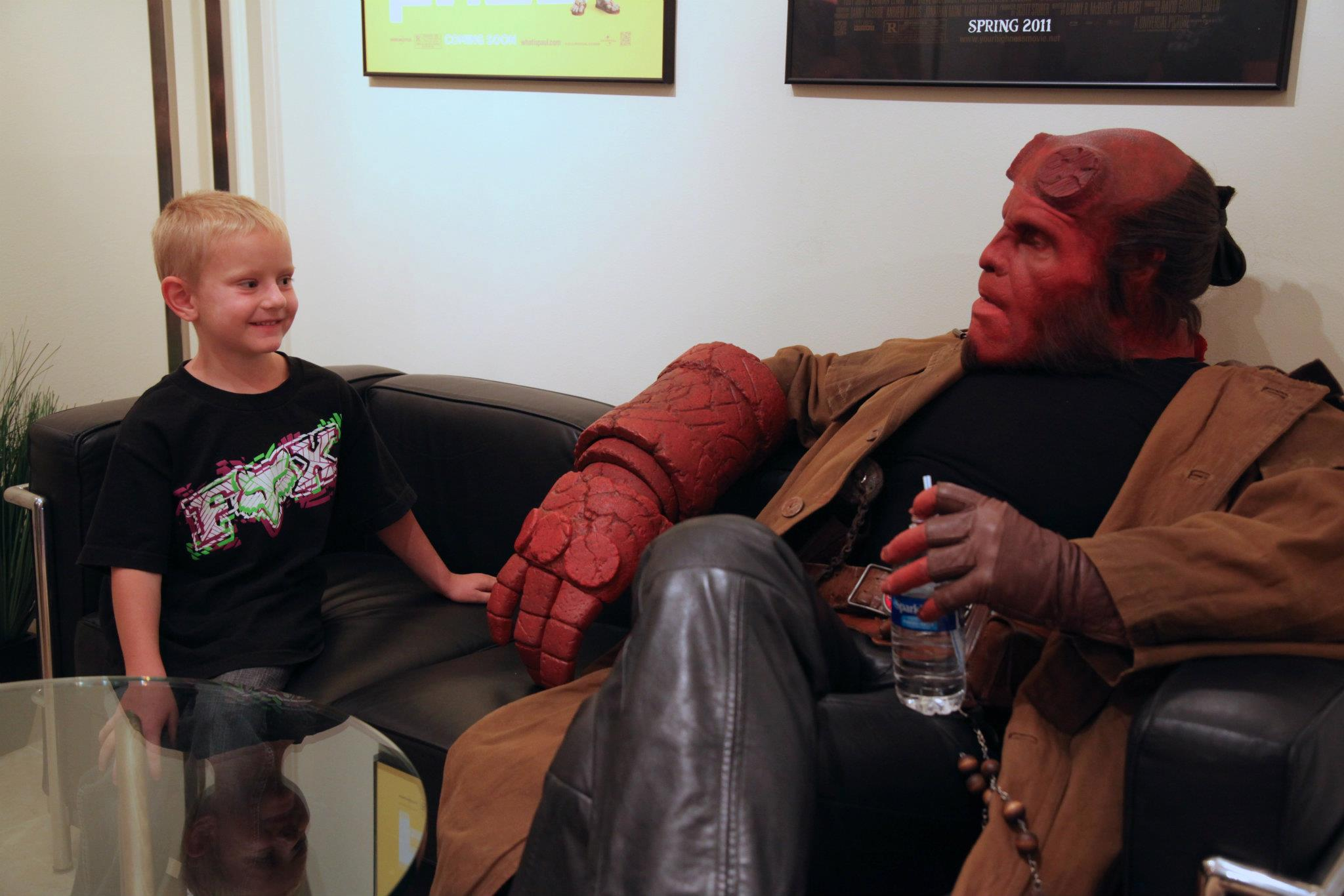 ron perlman2 Hellboy Helps Wish Come True