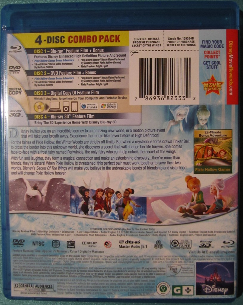 0201 815x1024 Blu Ray Review: Disney Fairies Secret of the Wings