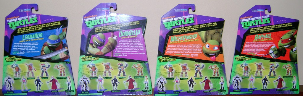 Leo Don Raph and Mike Back 1024x325 Teenage Mutant Ninja Turtles: Basic Figure Review!