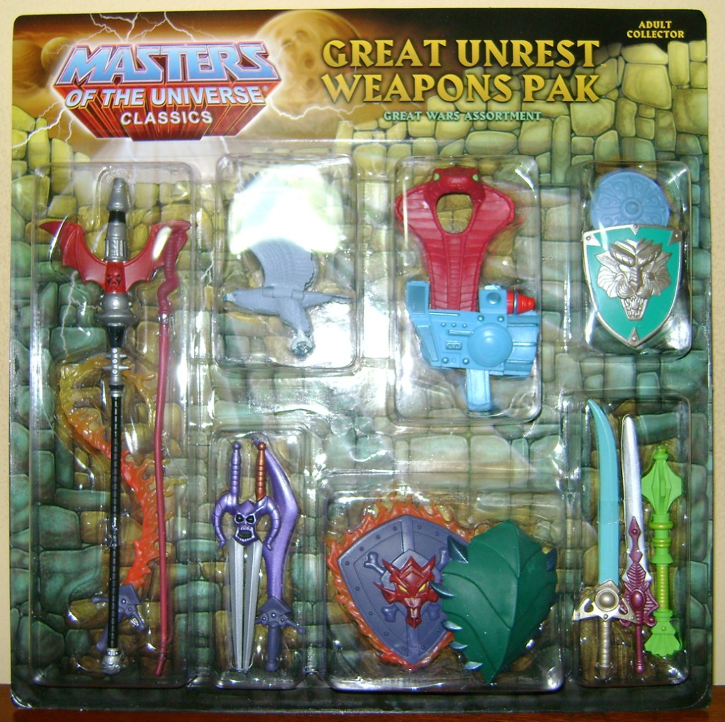 WEP PK 1A 1024x1020 Masters Of The Universe Classics: Great Unrest Weapons Pak!