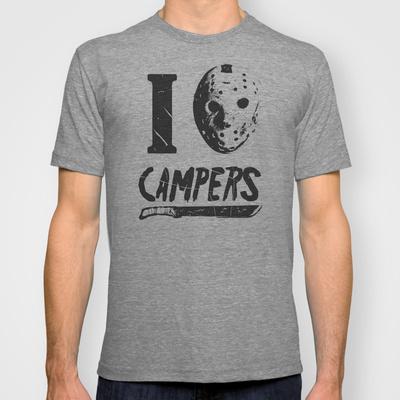 jason Halloween Jason Camping Shirt   Free Shipping!