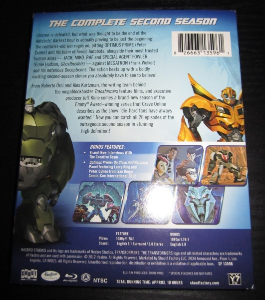 022 Blu Ray Review: Transformers Prime Season 2!
