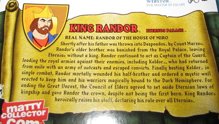 KR3 Thirty Years Of MOTU: Nov  Dekker And King Randor!