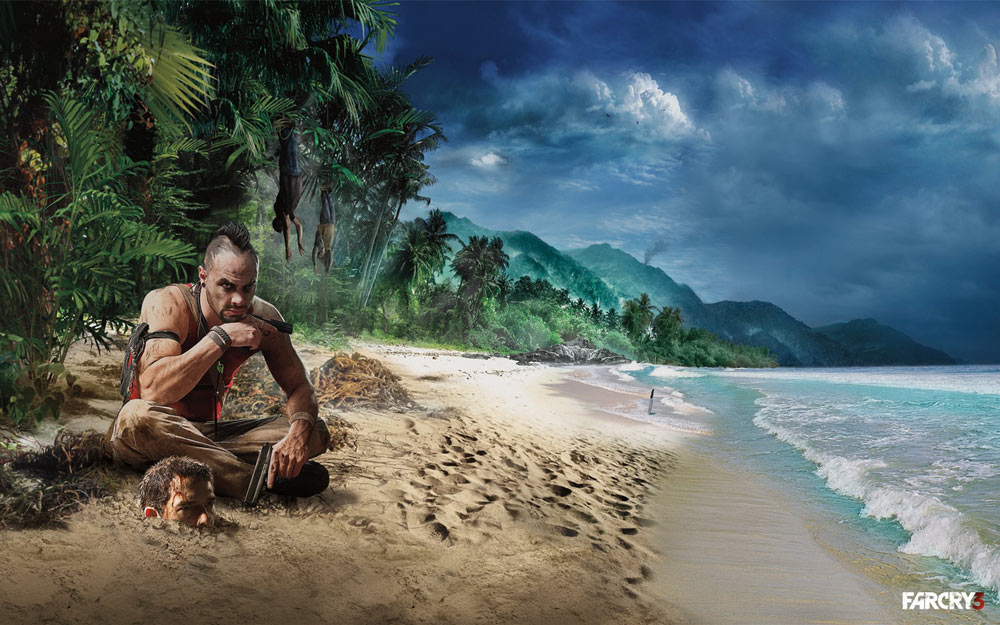 fc3 vaas and jason on beach Video Game Review: Far Cry 3