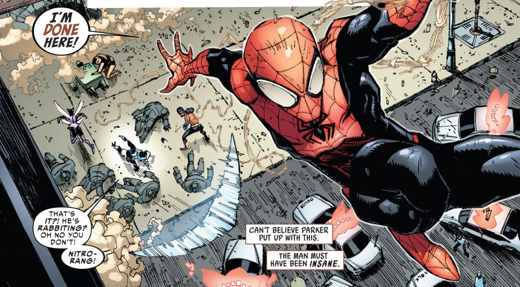 SuperiorSpiderMan 1 TheGroup 007 1024x566 Comic Book Review: Superior Spider Man #1 (Spoilers)