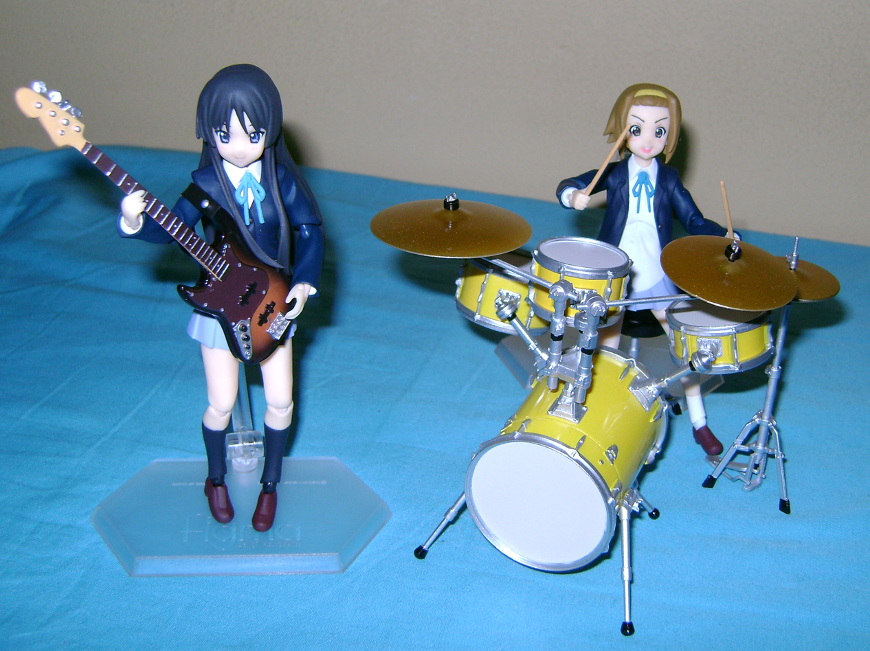 Keion F 10 K ON: Mio And Ritsu, Figma Action Figures!
