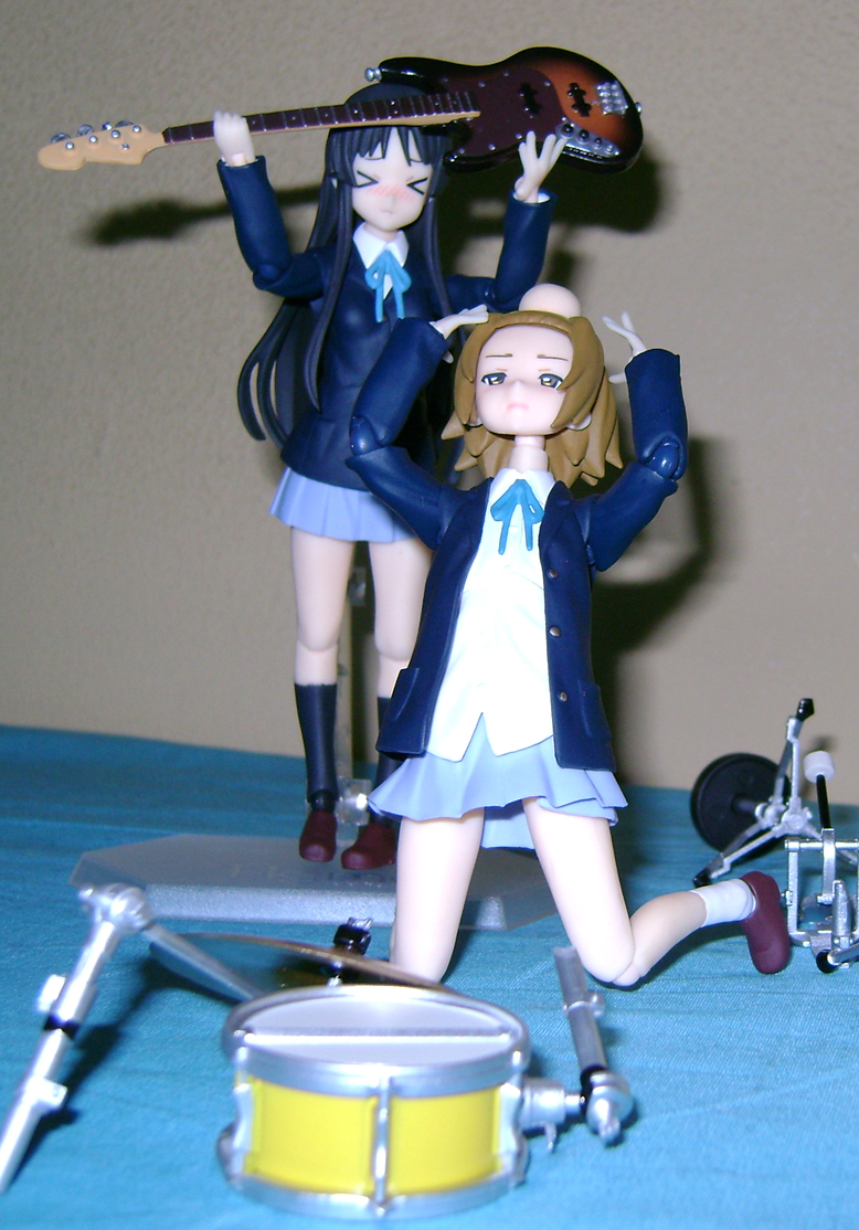 Keion F 16 K ON: Mio And Ritsu, Figma Action Figures!