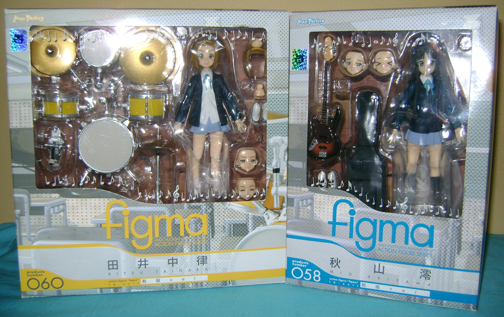 Keion F 5 K ON: Mio And Ritsu, Figma Action Figures!