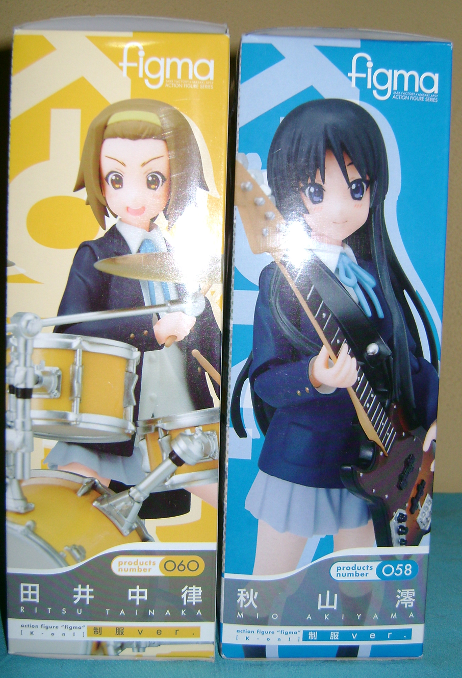 Keion F 6 K ON: Mio And Ritsu, Figma Action Figures!