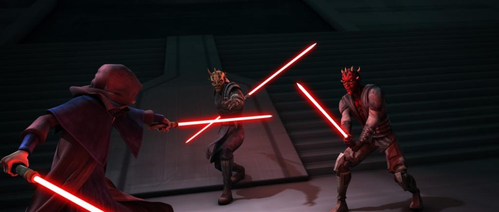 SidiousVsMaulSavage TL 1024x435 TV Review: Star Wars: The Clone Wars Season 5