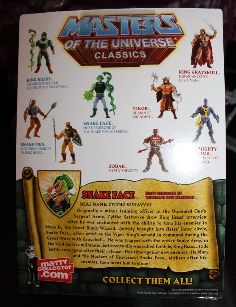 0041 Masters of the Universe Classics: April  Snake Face!