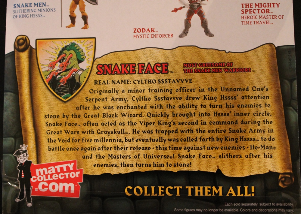 008 Masters of the Universe Classics: April  Snake Face!