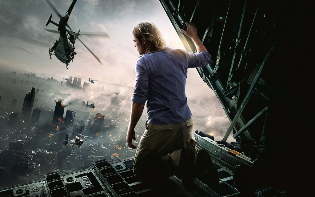 Brad Pitt in World War Z Movie HD Wallpaper 1024x640 Movie Review: World War Z