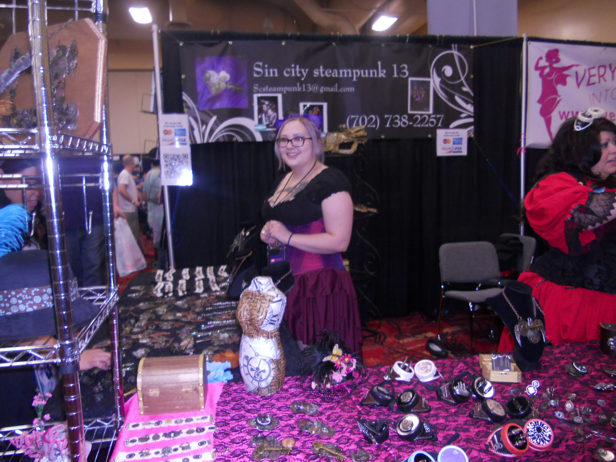 Sin City Steampunk Accessories booth