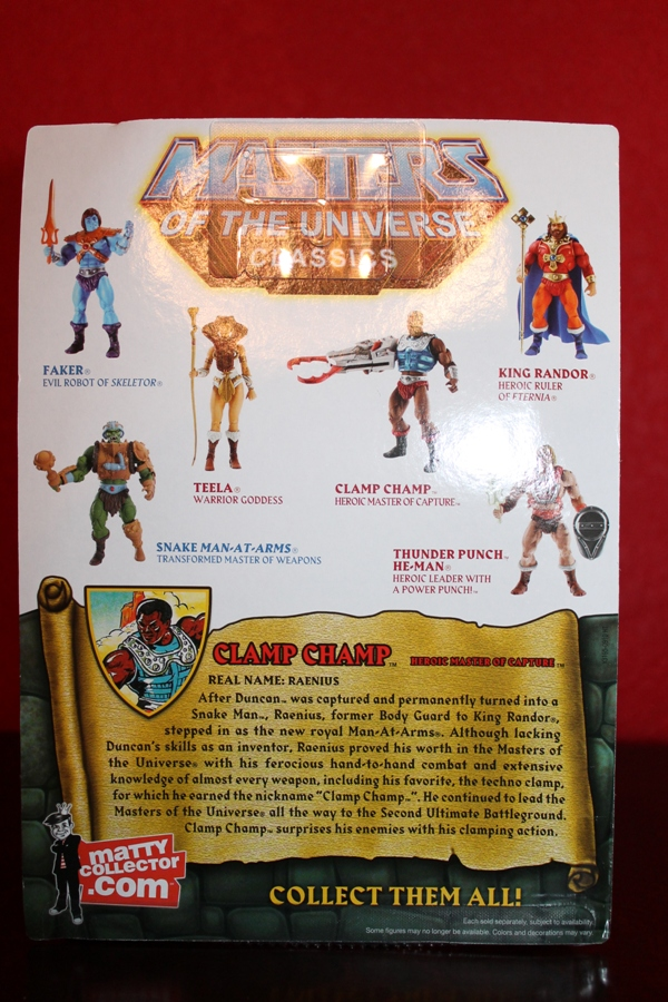 030 Masters of the Universe Classics: July  Clamp Champ & NA He Man