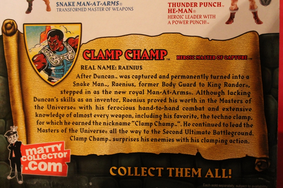 035 Masters of the Universe Classics: July  Clamp Champ & NA He Man