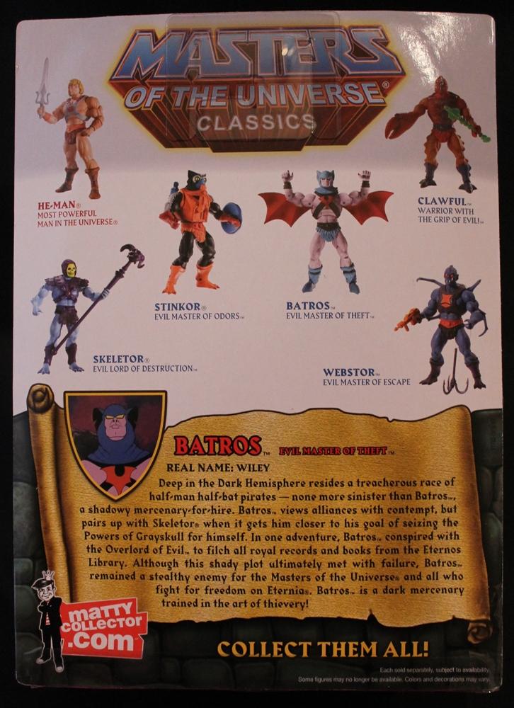 004 Masters of the Universe Classics Filmation Sub: Sept.  Batros!