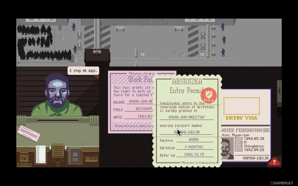 papers please screenshot ME3050132458 2 1024x640 Video Game Review: Papers, Please