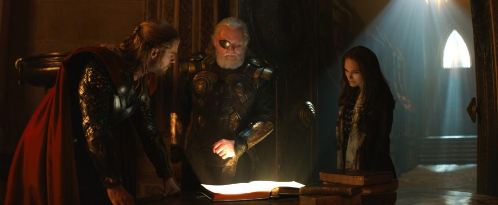 ThorOdinJane 1024x422 Movie Review: Thor The Dark World