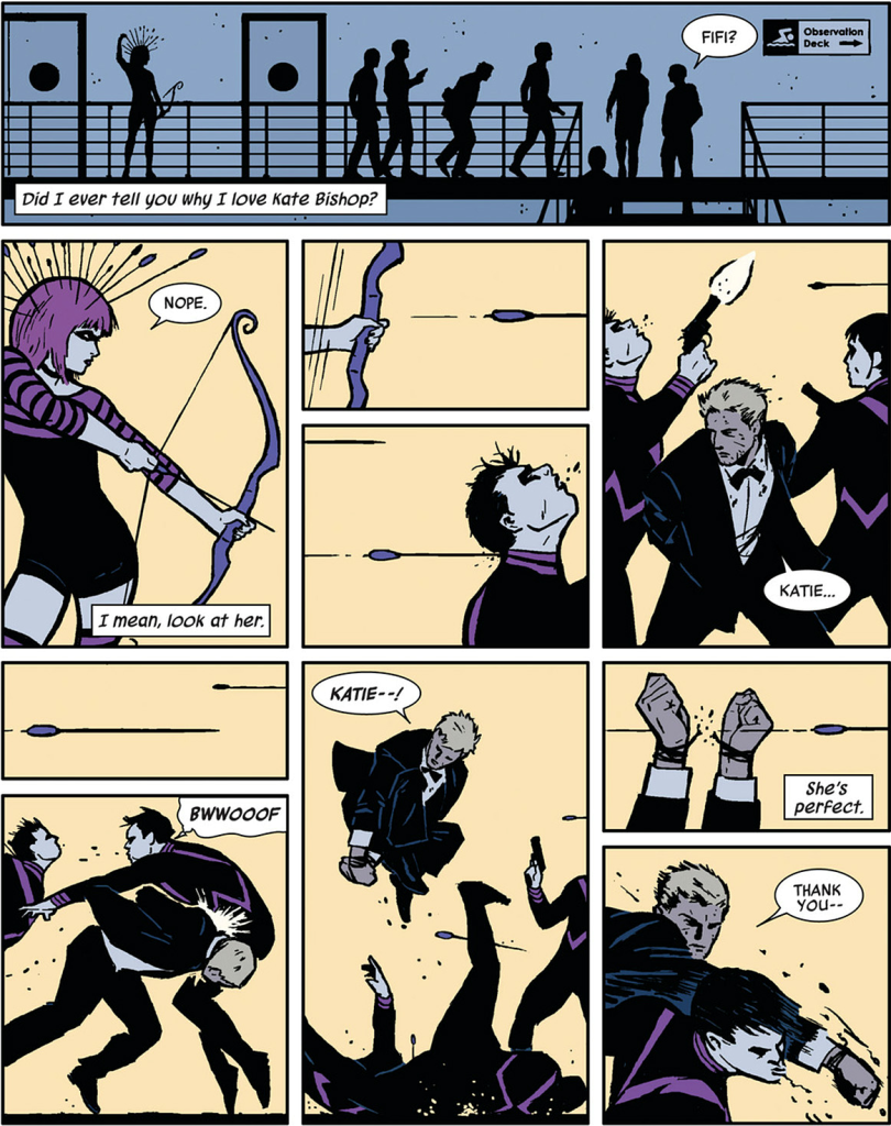 tumblr mcf59nnJpT1qztxjco1 1280 810x1024 Comic Book Review: Hawkeye Vol 1 My Life as a Weapon