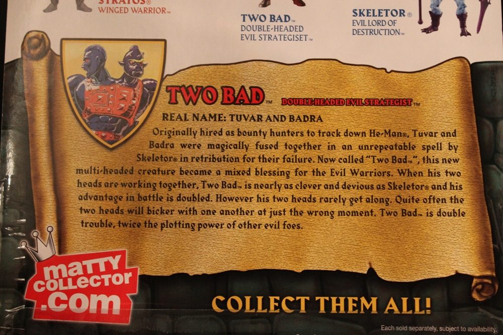 063 Masters of the Universe Classics: Jan  Two Bad!