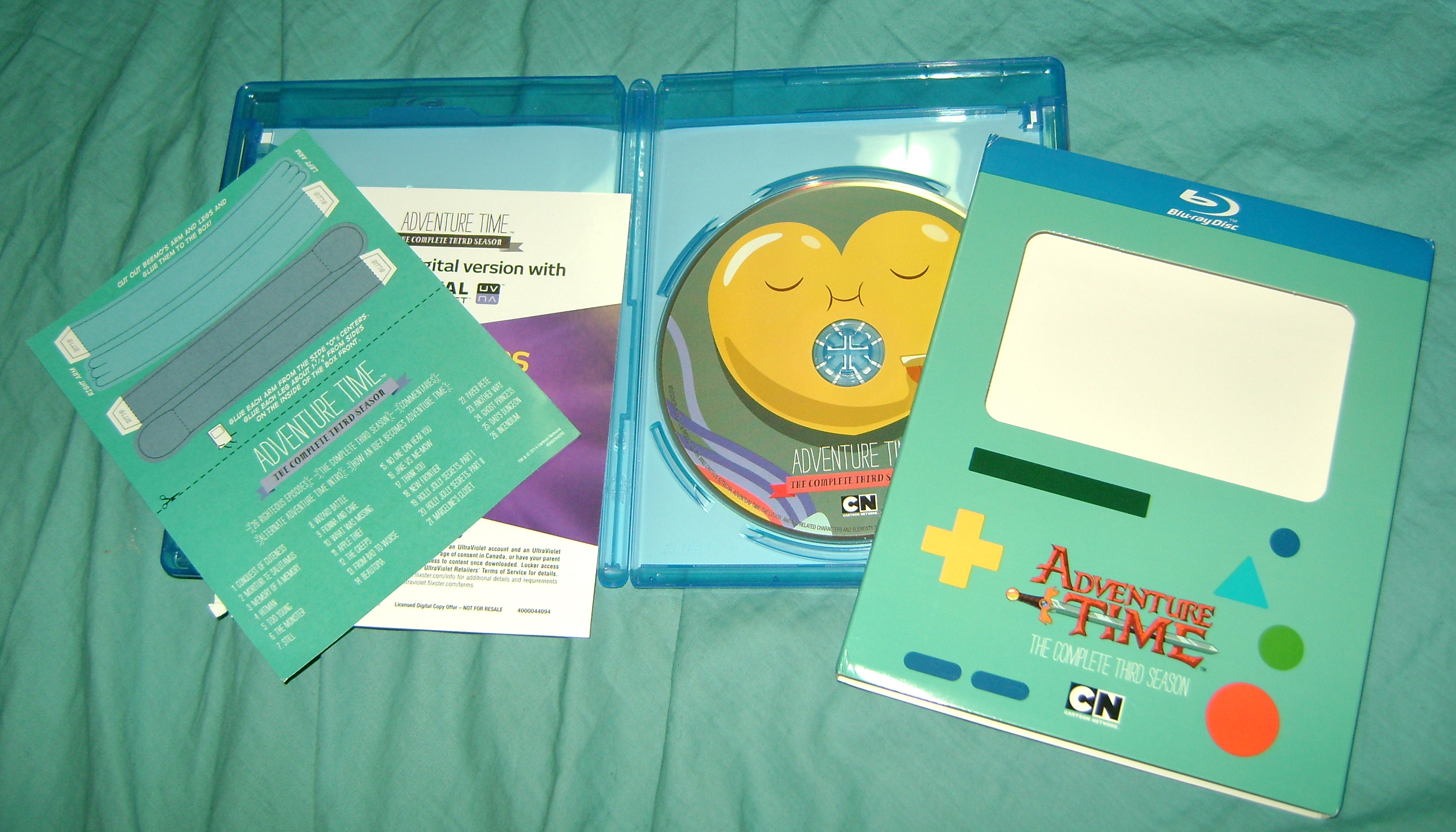 ADT 3 Adventure Time: The Complete Third Season, Blu ray Review!