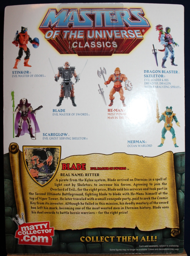 085 Masters of the Universe Classics: April  Blade!
