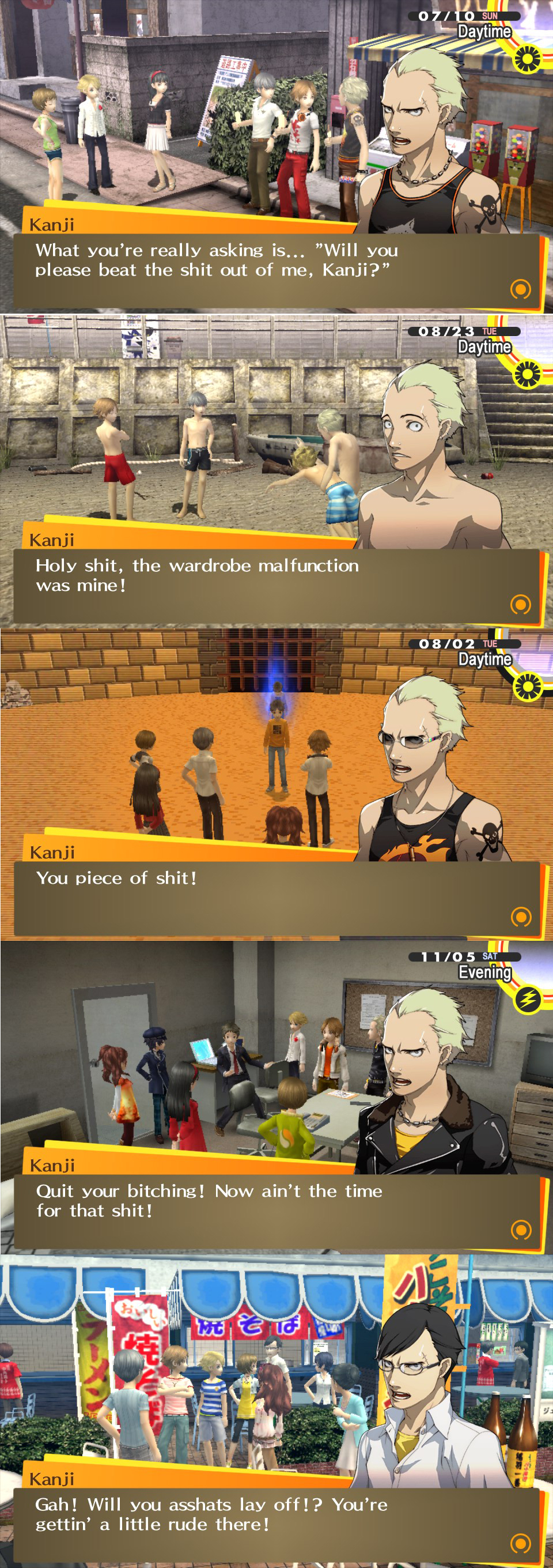 Kanji is full of shit Persona 4: The Golden; Pictorial!