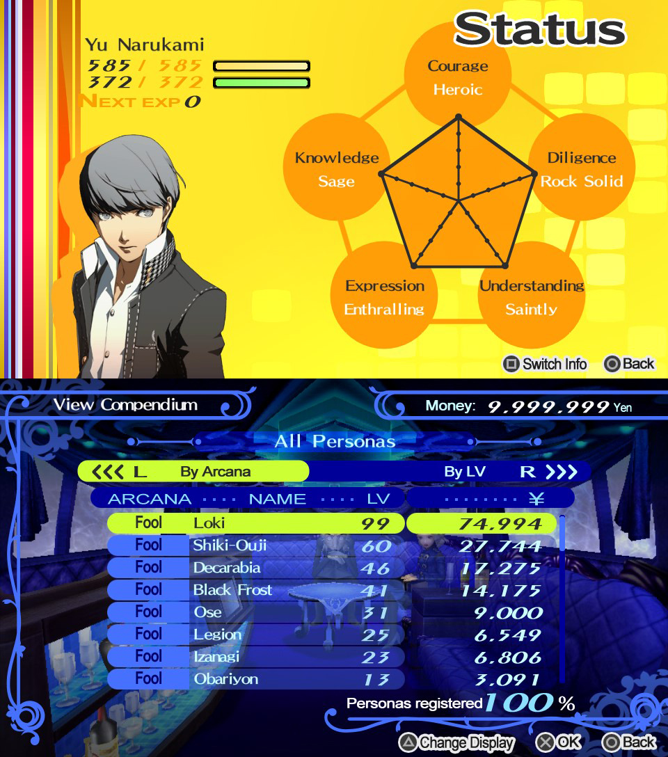 Max Fill Persona 4: The Golden; Pictorial!