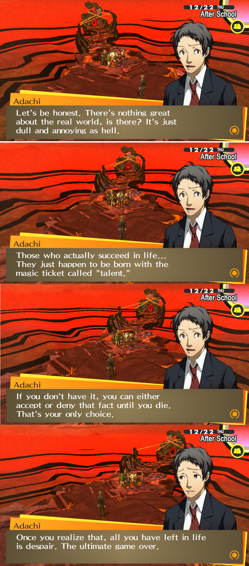 Wise words from Adachi Persona 4: The Golden; Pictorial!