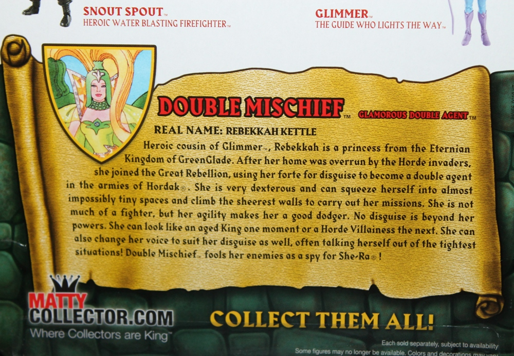 184 Masters of the Universe Club Etheria: July  Double Mischief!