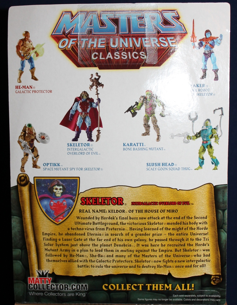 0031 Masters of the Universe Classics: August  NA Skeletor & Flutterina