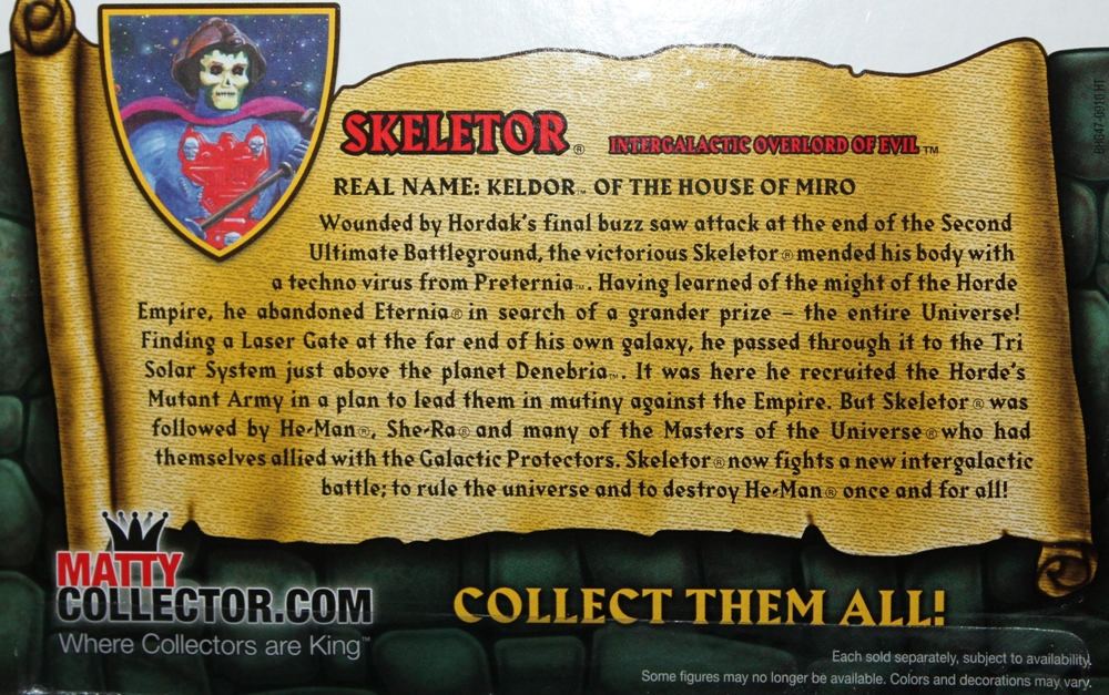 0051 Masters of the Universe Classics: August  NA Skeletor & Flutterina