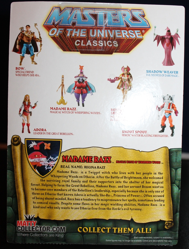 024 Masters of the Universe Club Etheria: August  Madame Razz and Broom!