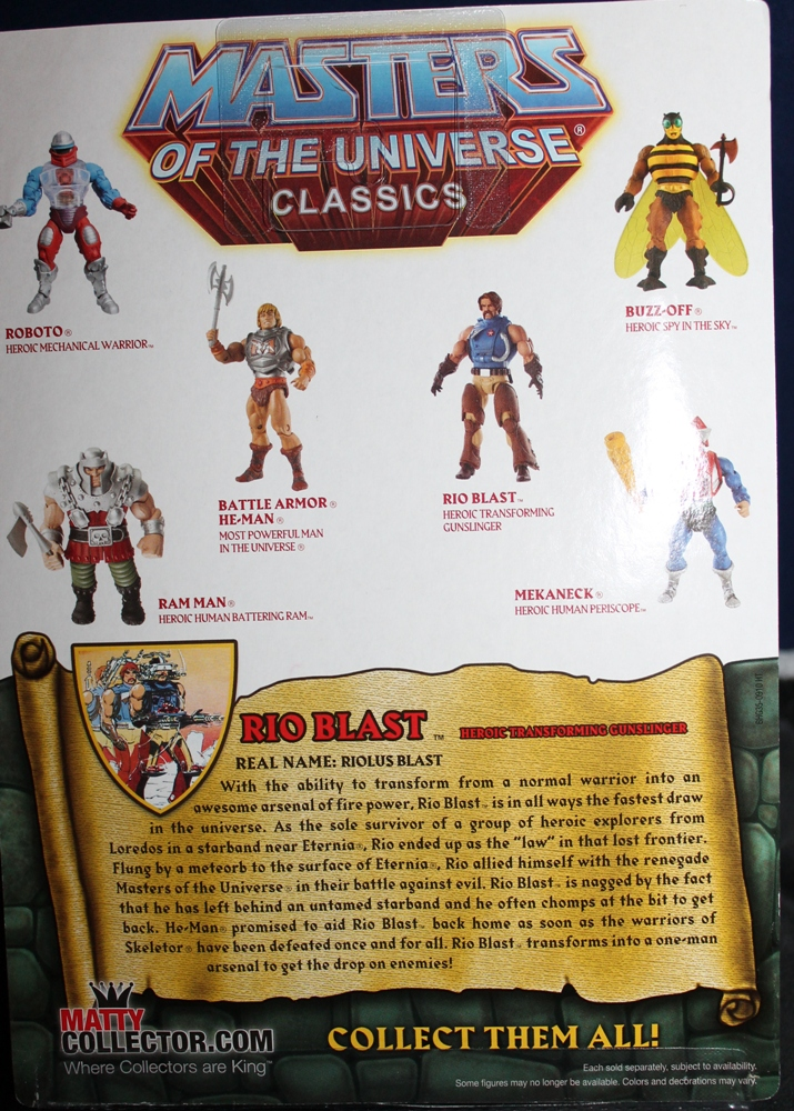003 Masters of the Universe Classics: September  Rio Blast!