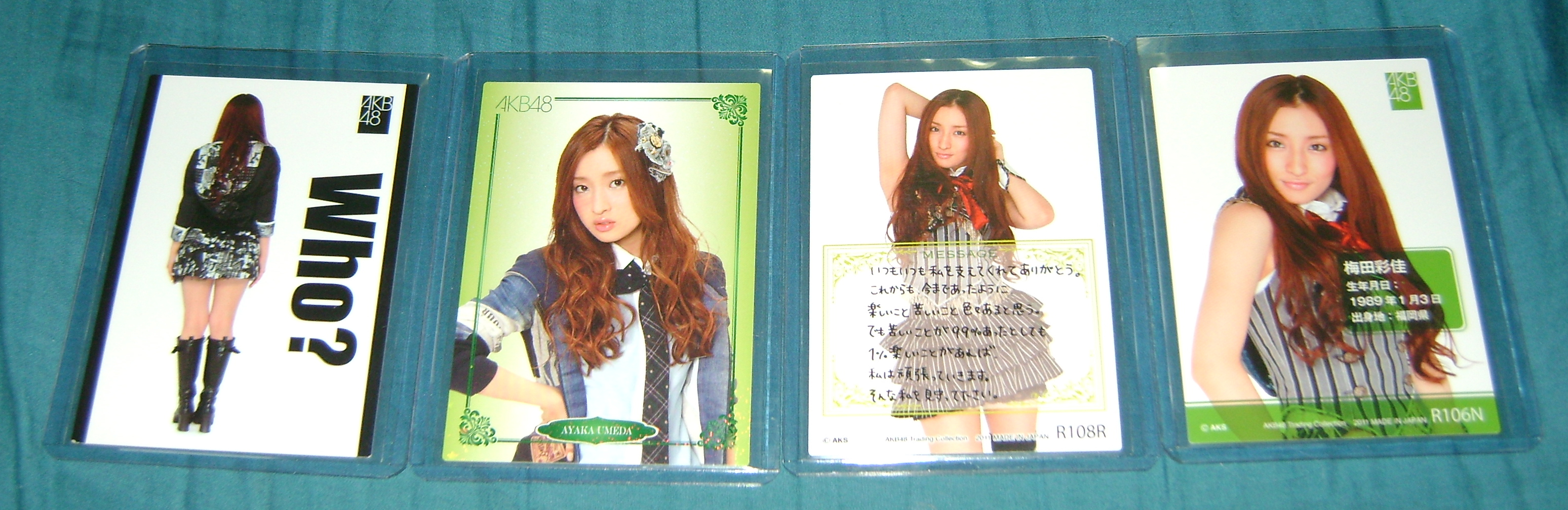Ayaka cards 2 AKB48, A Musical Collection; Part 5!