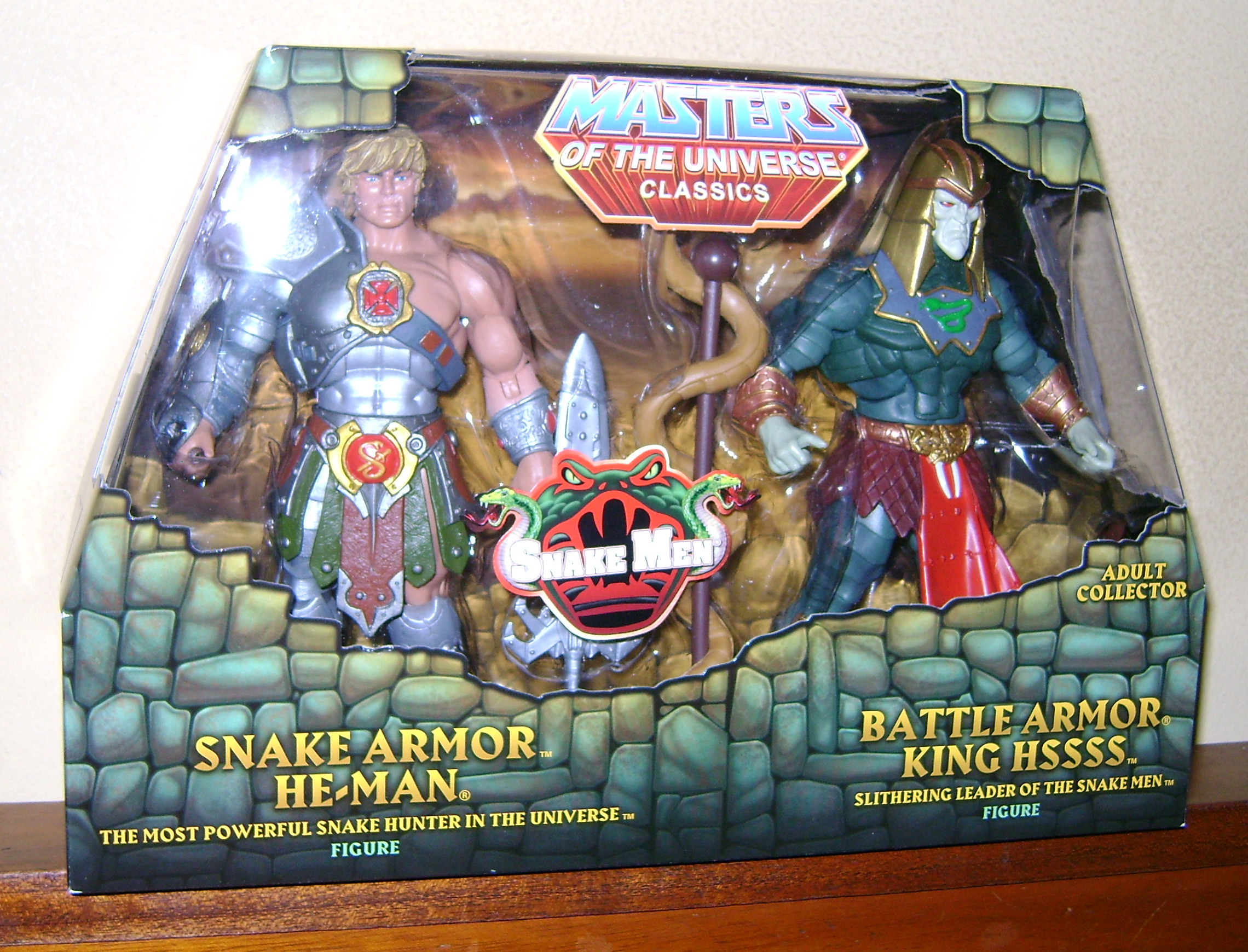 HeKH 1 MOTUC: 2015; Feb {Part 2} Snake Armor He Man and King Hssss!