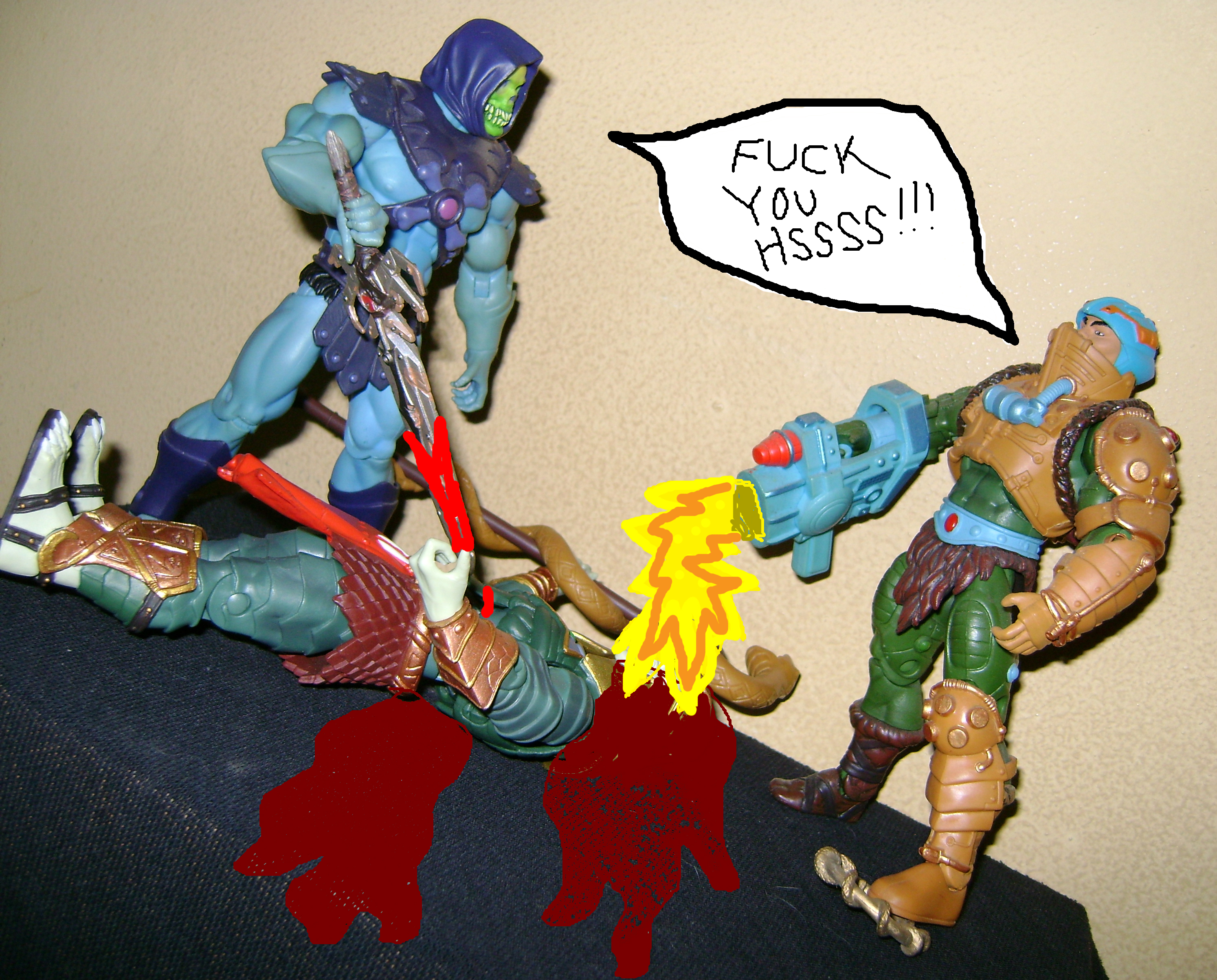 HeKH 14 MOTUC: 2015; Feb {Part 2} Snake Armor He Man and King Hssss!